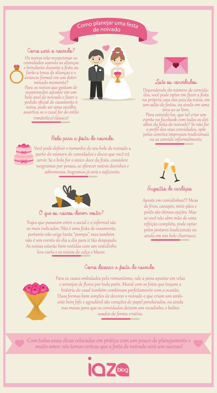 Como planejar uma festa de noivado