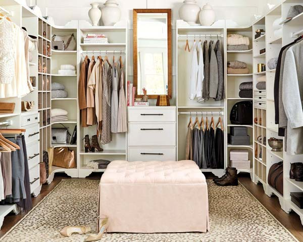 puff para decorar o closet