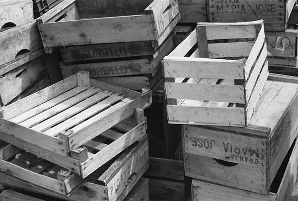 o que fazer com caixotes de madeira