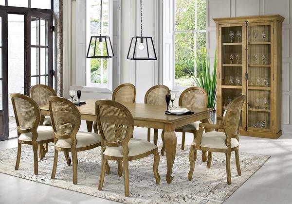mesa retangular de madeira Cabriolet