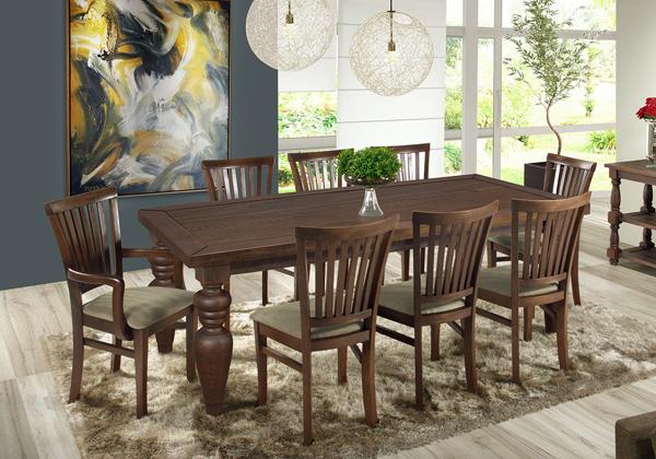 mesa retangular de madeira Flower