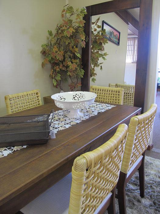 Mesa de jantar retangular