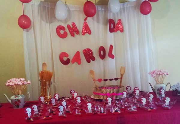 DIY Decoraç u00e3o de chá de panela Blog Casa da Iaza -> Decoração De Chá De Panela Simples E Barato