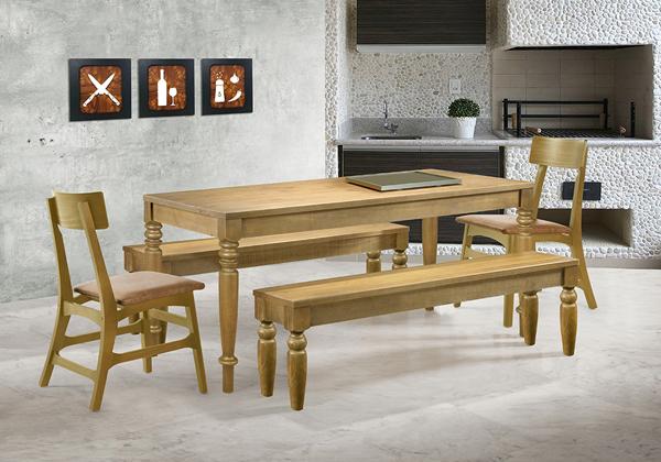 mesa de jantar torneada