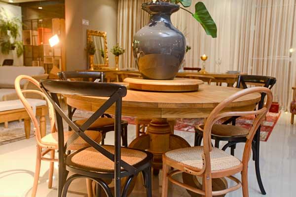 Sala De Jantar Madeira Macica ~ Sala De Jantar Rústica 10 Cadeiras Madeira Maciça Sala De Jantar