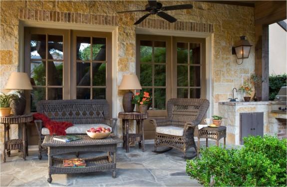 Country Style Patio Furniture~ Decoracao De Interiores De Casas De Campo