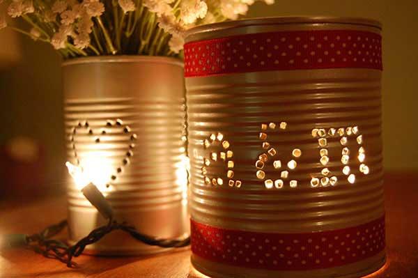 Luminária de lata