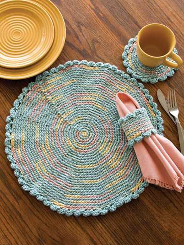 decoração com crochê