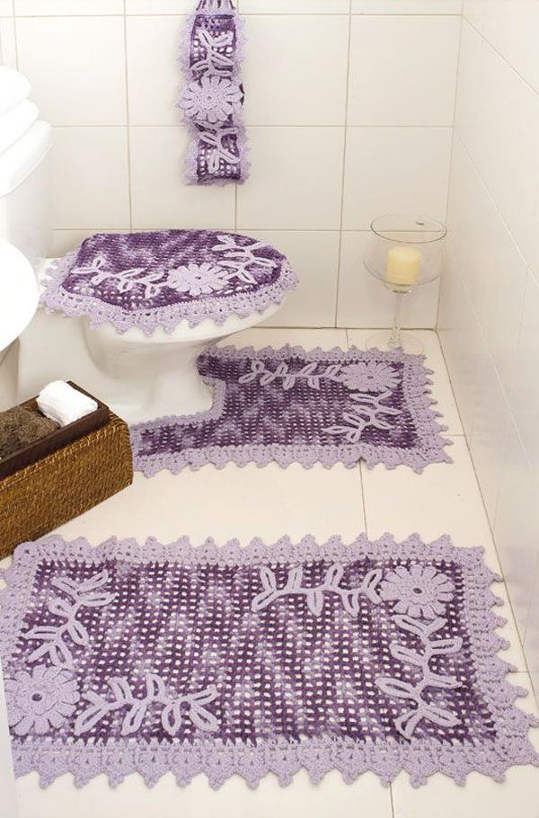 crochê no banheiro