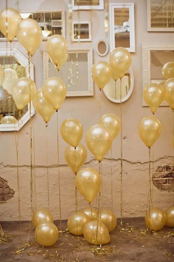 Balões na decoração de fim de ano