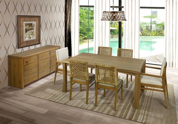 Sala-de-jantar-de-madeira-maciça