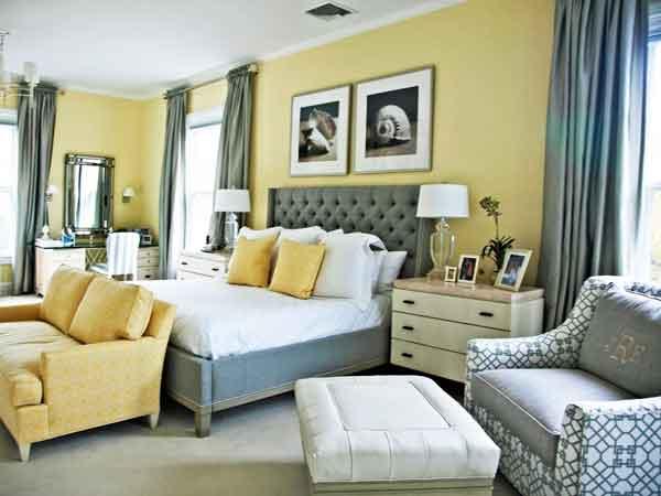 Cinza-e-amarelo-na-decoração-de-quarto