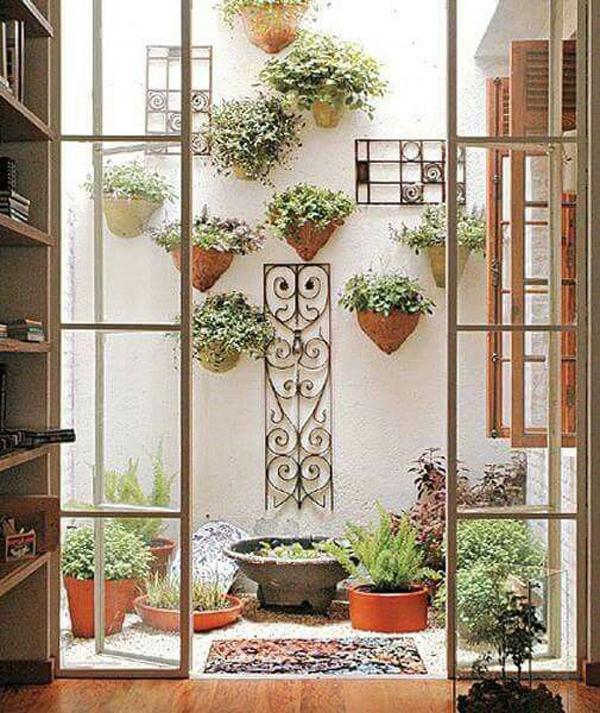 decoração de varanda com plantas