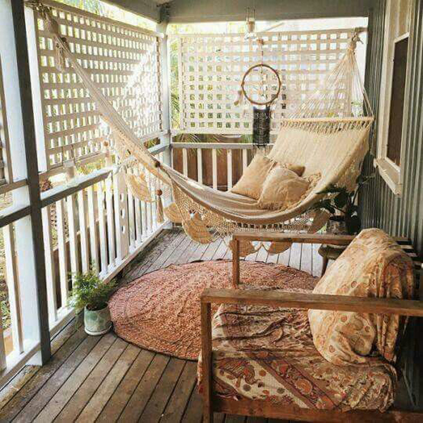 como decorar varanda de praia