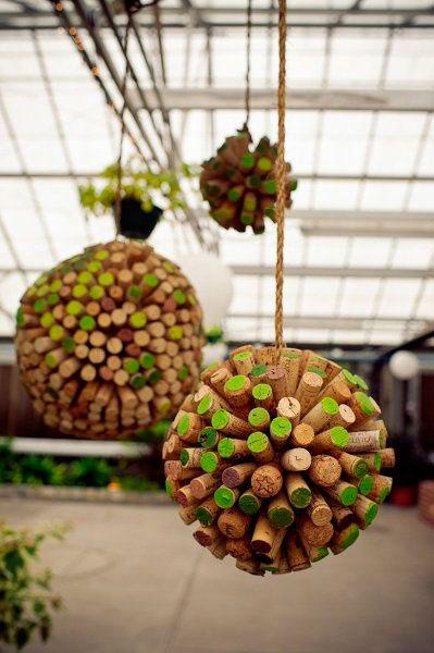 Rolhas de vinho na decoração