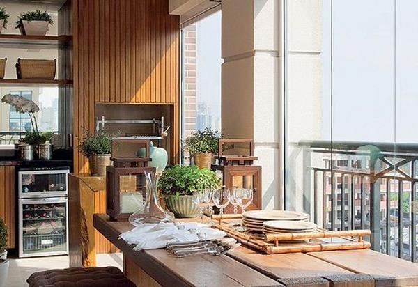 decoração de varanda gourmet