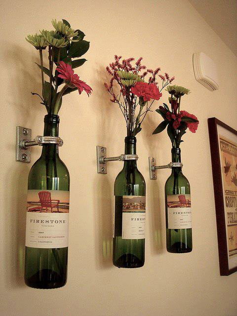 Reaproveitar garrafas de vinho
