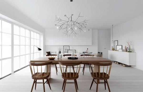móveis de madeira escandinavo