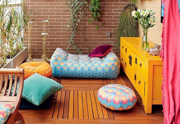 decoração de varanda moderna