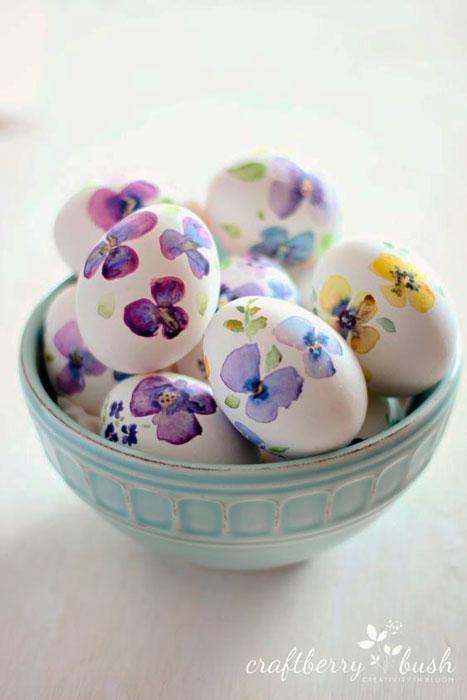 Cascas de ovos florais