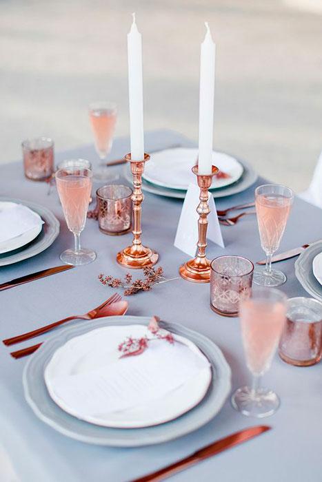 Decoraçãom de mesa de casamento