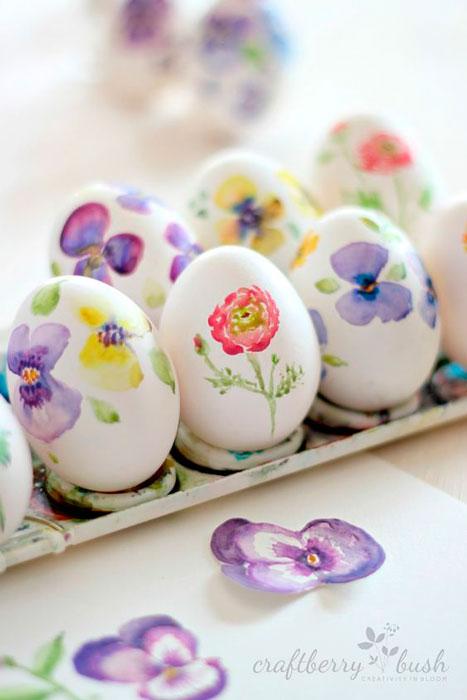 pintar casquinhas de ovos para Páscoa