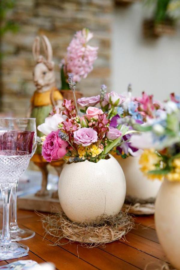 ovos de páscoa na decoração