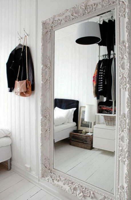 espelho na decoração de quarto