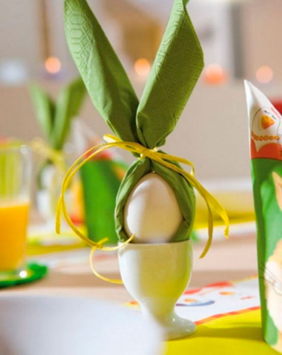 Decoração de mesa na Páscoa