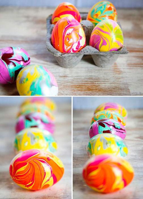 Cascas de ovos coloridas