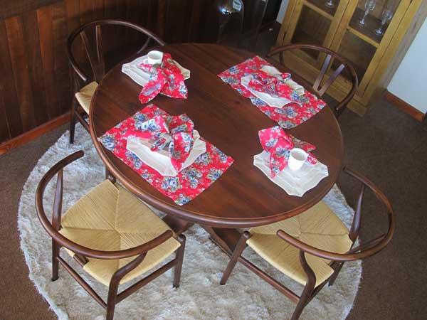 mesa redonda para apartamento