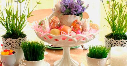 Como decorar mesa de Páscoa