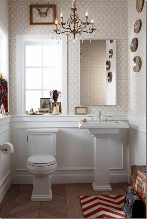 papel de parede em lavabo