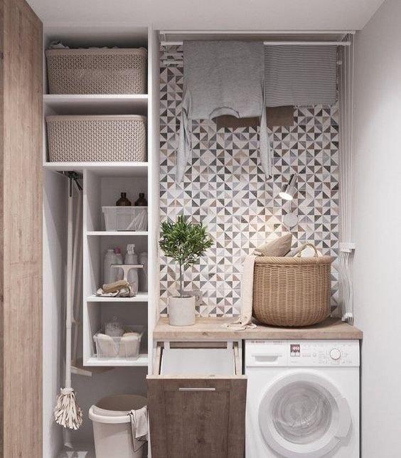 lavanderia decorada