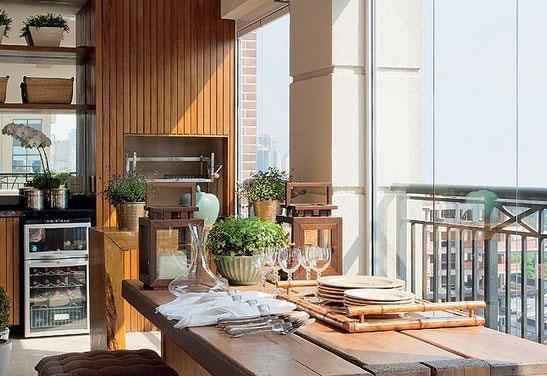 Varanda gourmet em apartamento
