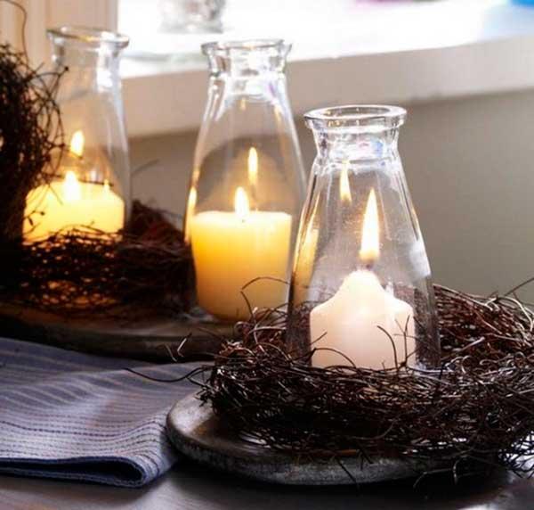 Usar velas na decoração