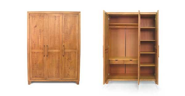 Guarda-roupa de madeira 3 portas