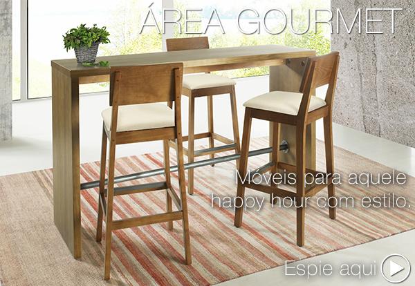 Móveis de madeira para área gourmet