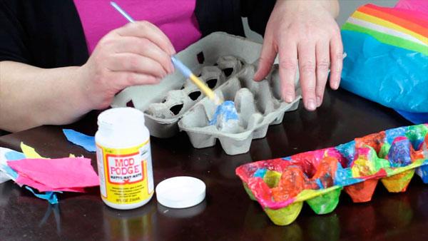 Caixas de ovos na decoração