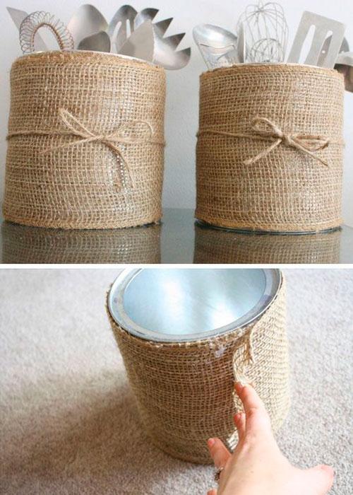 Reciclar Latas na decoraçãoo
