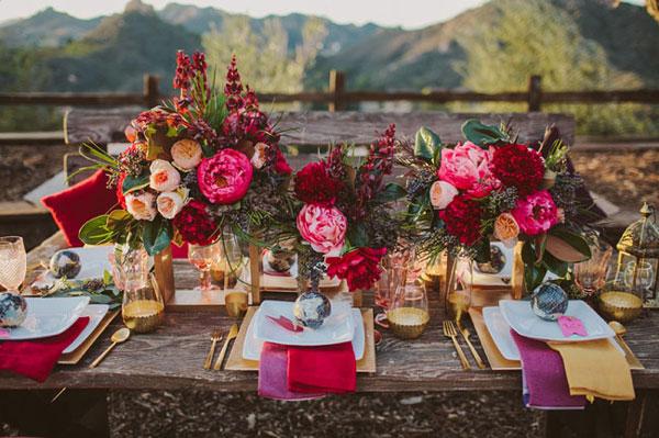Flores no casamento de inverno