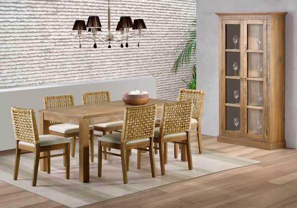 Sala De Jantar Madeira Macica ~ Móveis de madeira para Sala de jantar