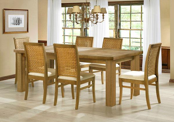 Cadeiras de madeira estofadas