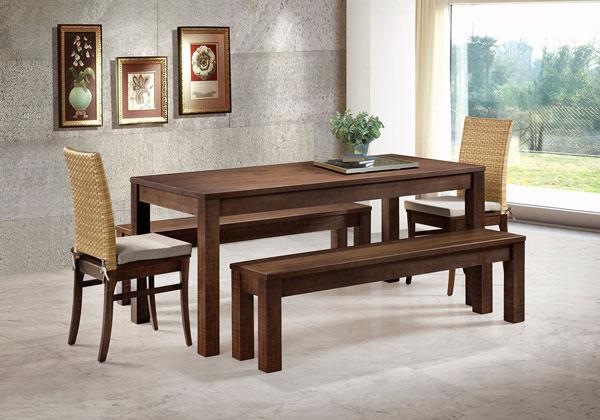 Mesa de jantar de madeira - Tudo por menos