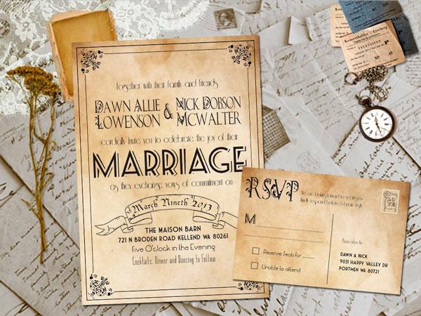 Convite casamento rústico