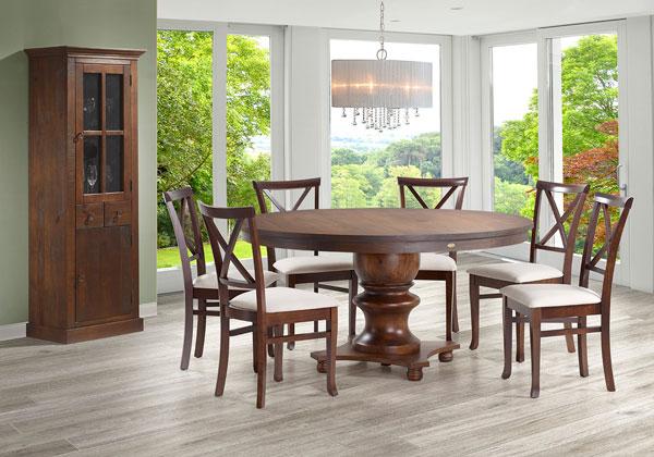 Mesa de madeira redonda - Tudo por menos
