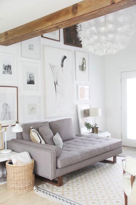 Branco com madeira