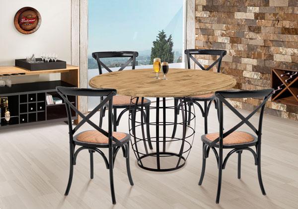 Mesa barril com cadeiras paris