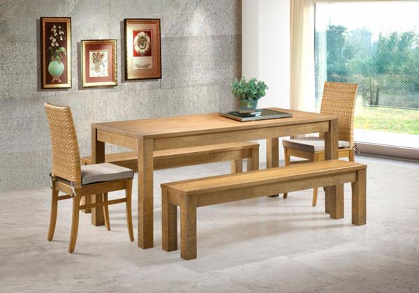 Mesa de jantar pés quadrados