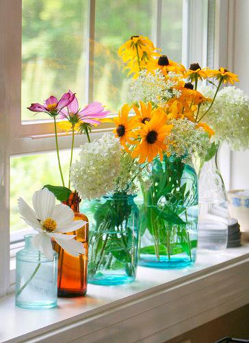 flores na decoração vintage